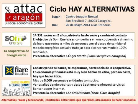 cartel hay alternativas ATTAC 20 de Mayo de 2014